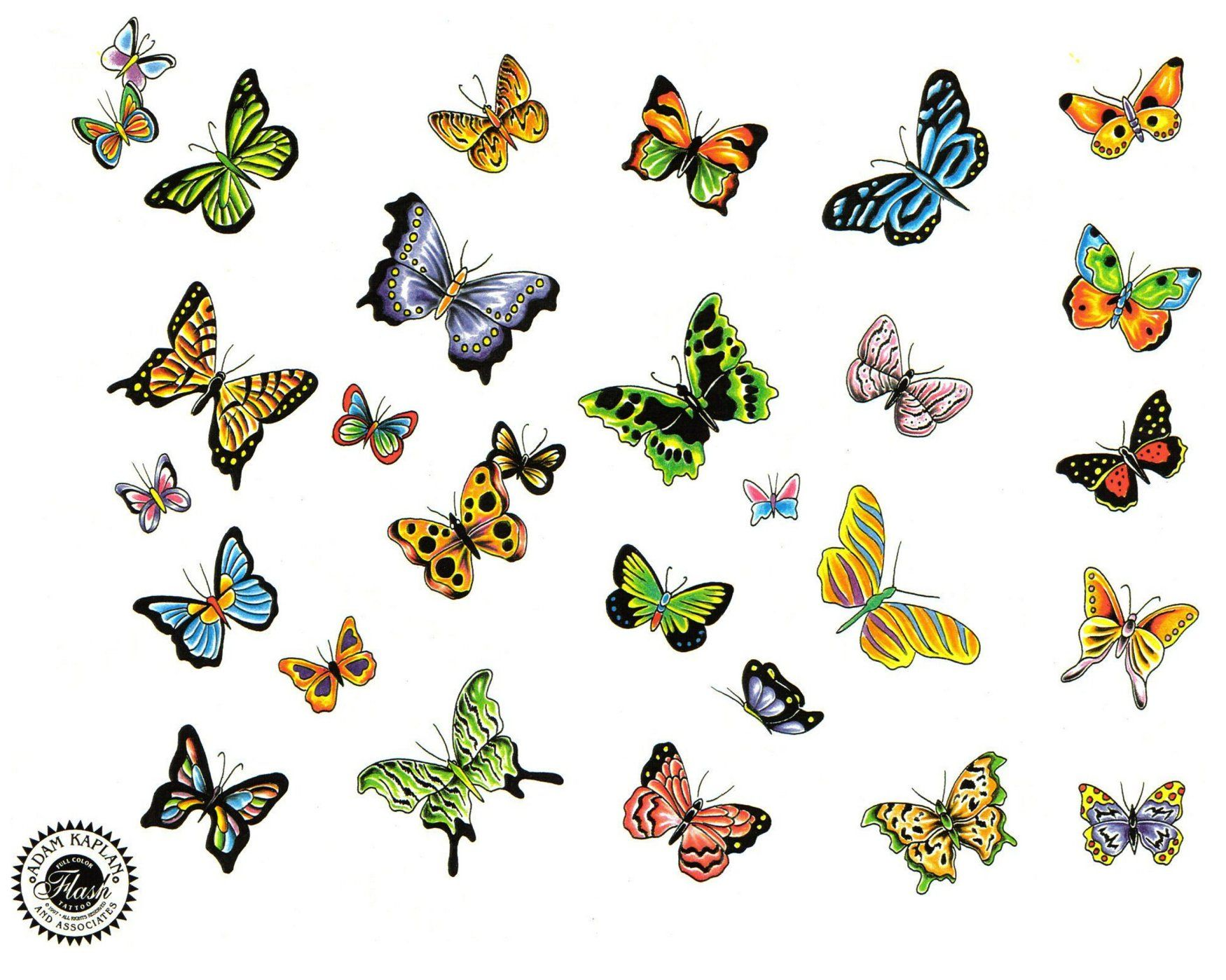 Tatouages page 7 - Dessin petit papillon ...