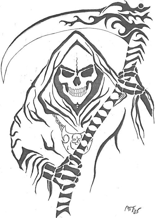 tatouages - Page 6 Cool Grim Reaper Drawings