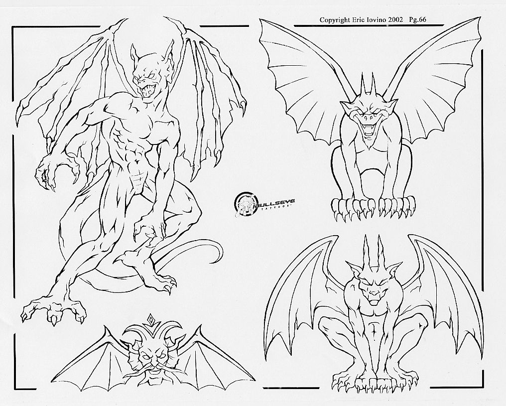 Diable - Dessin ange demon ...